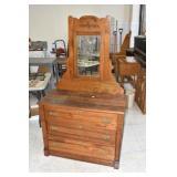 Oak Dresser w/ Mirror