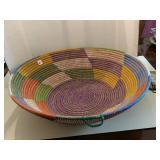 Large, Pine Needle Basket, one loop to hang