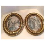 Vintage Art, Nice heavy gilt plaster? Frames,10x12