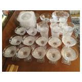 Vintage Crystal,stems & plates, glasses