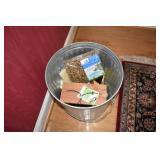 Trash Can full of Bird Feed, 1 feeder