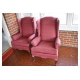 Pair, High Back Chairs