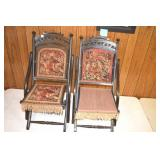 Folding Parlor Chairs,Antiques