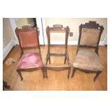 Square Bottom Eastlake Side Chairs,3