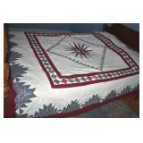 Quilt,Hand Stitched, Full Size,white back