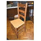 Country Side Chair, thick back slats