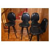 Bar Stools, 4 faux leather, nice