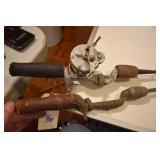 Vintage Fishin, Akron Reel on cast iron