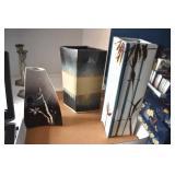 Art Pottery Vases, 3, Pewter Candlesticks