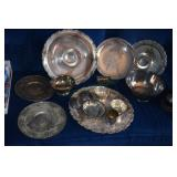 Assorted Silverplate Items,trophies