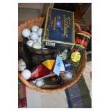 Golf Balls,Tees,Large Basket full, most are new