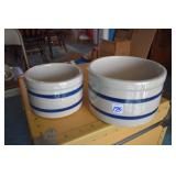 Stoneware Crocks, RRRP, 303B,C