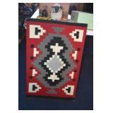 Art,Native American,Wool, Weaving,shown as rug