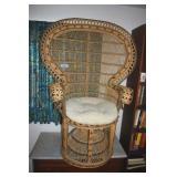 Wide Wicker Chair