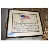 Needlework, Pledge of Allegiance, 1974