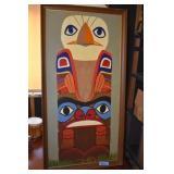 Totem, Art, Nice painting on artist board, framed