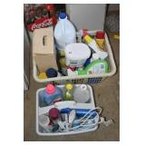 Basket and Tote with LOTS of Laundry Products