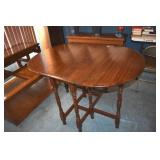 Gateleg Table, Wm & Mary Stretchers