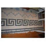 "Rug, 100 x 122"", Wool,Native American Style"