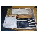 Vintage Gloves,Hankies,Grannies Farm Bonnet