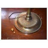 Tall Parlor Lamp, Brass,heavy base