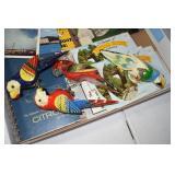 Older & Vintage Post Cards,Wood bird w clips