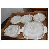 Corning Covered Casseroles, Dishes,Nice