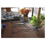 Wrought Iron Plant Stand,Plants