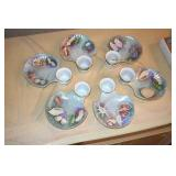 Oyster Dishes, 6,signed Laura Kisler