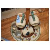 Tin Tray, Nice Coffee Mugs assortment