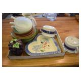 Mixed Pottery, Soup Cups, bowls. n