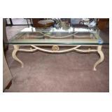 Coffee Table, Iron & Glass, Heavy