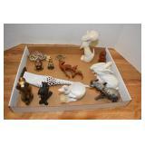 Animal Figures, 3 are cast metal