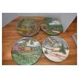 Decorative Ceramic Plates, 1980,Byron Molds