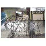 Duck Styled Wine Rack,wrought iron