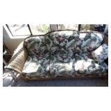 "Wicker Style Sofa, 88"" Long,Nice,Clean"