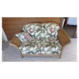 """Wicker Love Seat, 63"""" L"""