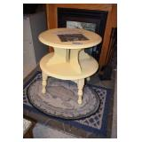 Painted Mid Century table,Old Electric Spool