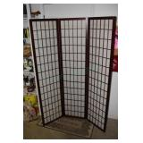 """Screen / Divider, 71"""" T x 52"""" in 3 sections"""