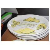 Italy Dishes, 2 egg plates, 3 corn trays