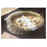 Wicker & Glass Display Table