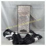 Crackle Mirror Candle Sconce, Black Tiebacks