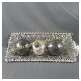 Crackle Mirror Decorator Balls, Silver Ball