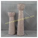 Modern Hobnaill Textured Candlestands