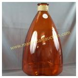 X-Large Orange Glass Floor Vase - 24 Inches Tall