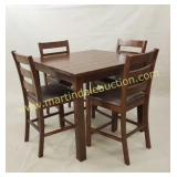 Dark Wood Bar Height Table & Chairs