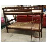 Brown Bunk Bed Set - Twin Size