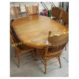 Vintage Oak Table & Chairs