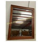 Vintage Wood Frame Mirror