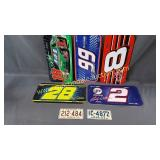 Nascar Themed Plastic License Plates Cover